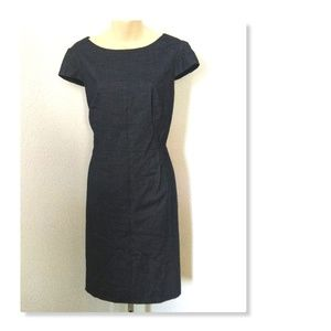 Antonio Melani Dark Grey Size 12 Sheath Dress
